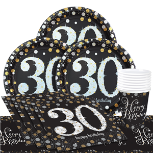 Sparkling Celebration 30th Birthday Party Pack Value For 8
